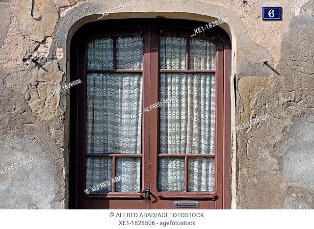door, Sant Pere de Riudebitlles, Catalonia, Spain