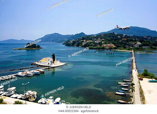 abby, airplane, architecture, Architektur, attraction, Boote, bridge, building, convent, Corfu, culture, EU, Europa, Europaeische Union, europe, Flugzeug