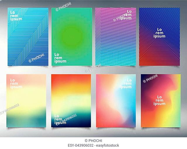 Modern template minimal covers design for brochure, leaflet, flyer, cover, catalog, poster, annual report. Abstract fluid 3d shapes trendy liquid colors...
