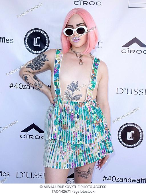 Rapper Vials attends 40z and Waffles x Coachella Party on April 15, 2017 in Palm Springs, California