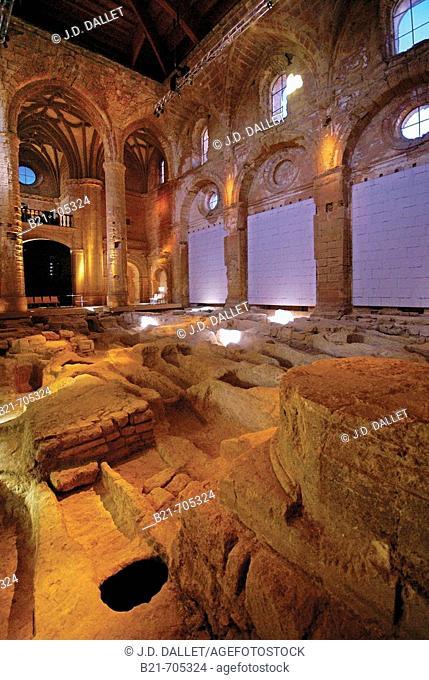 Spain-Jaen-Andalusia-     graveyard, inside the 'Iglesia Mayor Abacial'(main church Abbey), at the Mota Castle at Alcala la Real