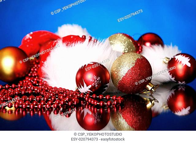 Background of Christmas balls