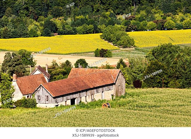 Farm house and barn in Dordogne, France, Europe