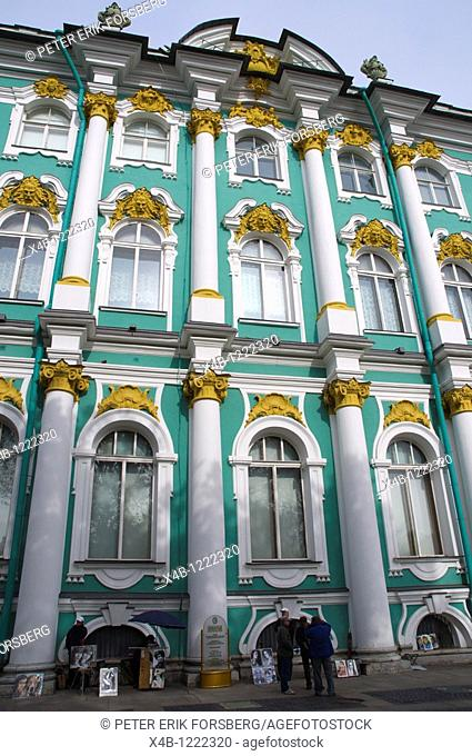 Zimny Dvorets the Winter Palace exterior central St Petersburg Russia Europe