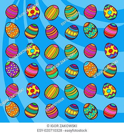 easter eggs background cartoon illustration