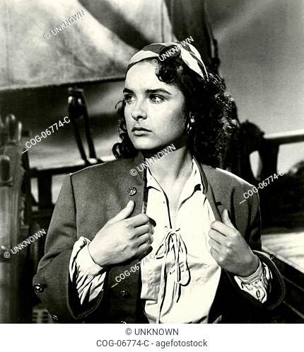 The actress Jean Peters in a scene from the film Anne of the Indies, USA 1951