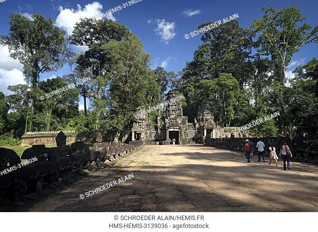 Cambodia, Siem Reap Province, the Angkor Archeological Park includes the temples of the Khmer Empire which flourished between the 9th and 15th centuries