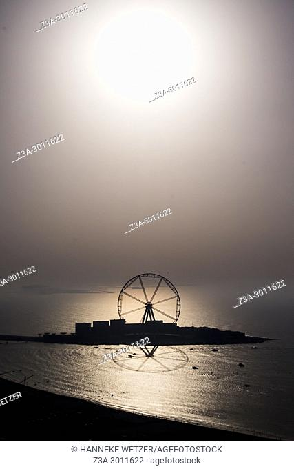World's largest ferris wheel: Dubai's new high-rise wonder which will carry 1,400 passengers as it nears completion. . The 668 feet tall marvel will have the...