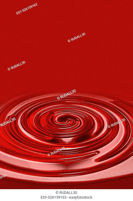 An illustration of red liquid on red background