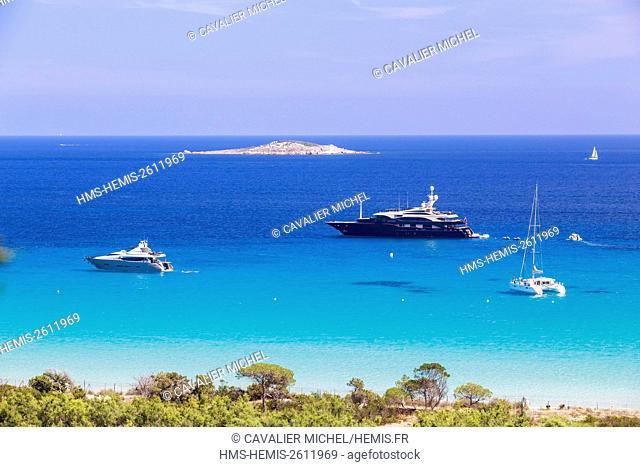 France, Corse du Sud, Porto Vecchio, Palombaggia, beach of Palombaggia