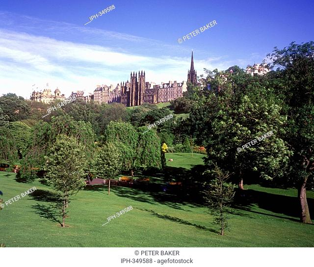 Edinburgh - Princes Street Gardens and Old Town