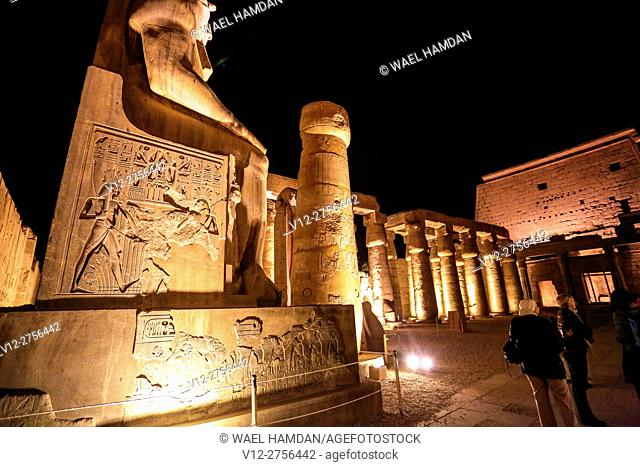 Temple of Luxor at night, Luxor city, Egypt
