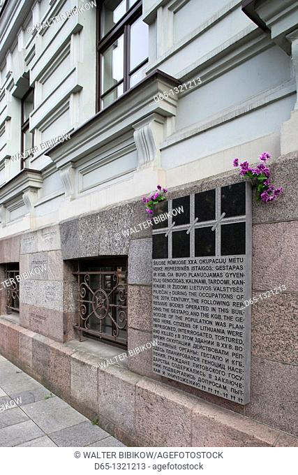 Lithuania, Vilnius, Museum of Genocide Victims, housed in former KGB building, wall memorials