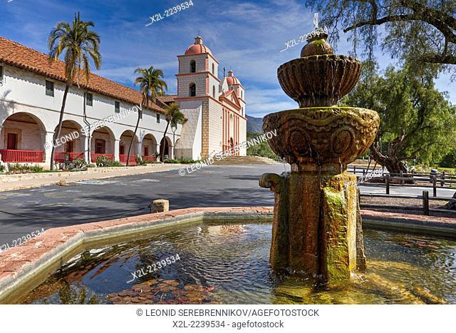 Mission Santa Barbara. Santa Barbara, California, USA
