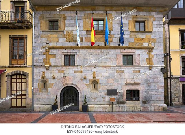 Ribadesella City Town Hall in Asturias from Spain
