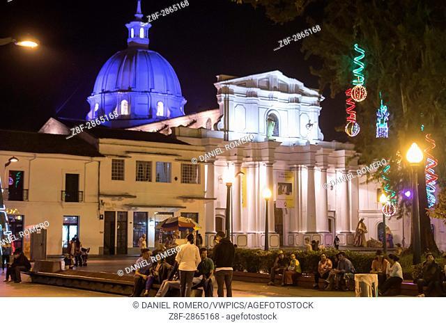 Historical Center of Popayan, Colombia. Metropolitan Basilica Cathedral Nuestra Señora de La Asunción