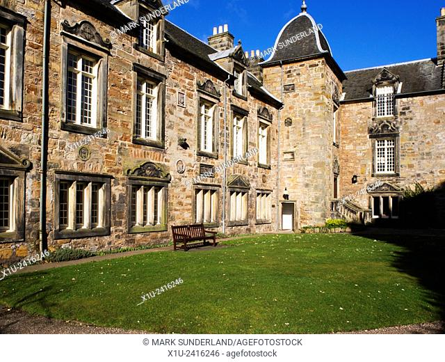The West Range and Principles House in St Marys College Quad St Andrews Fife Scotland