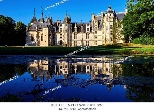 France, Cher (18), Berry, Chateau de Meillant castle, the Jacques Coeur road