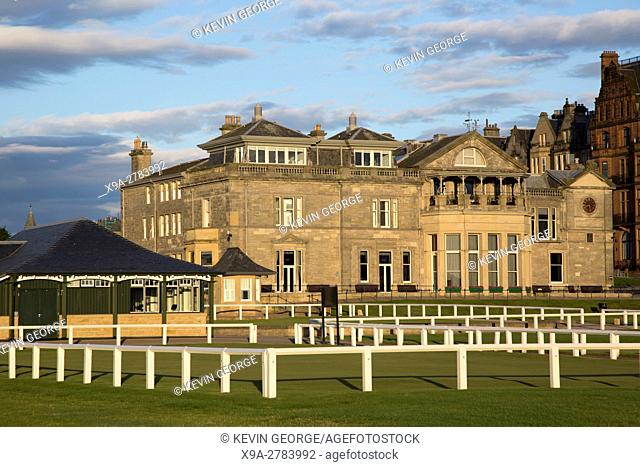Royal and Ancient Cluhouse, Old Course, St; Andrews; Fife; Scotland; UK
