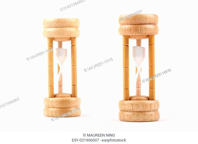 Hourglasses isolated on white