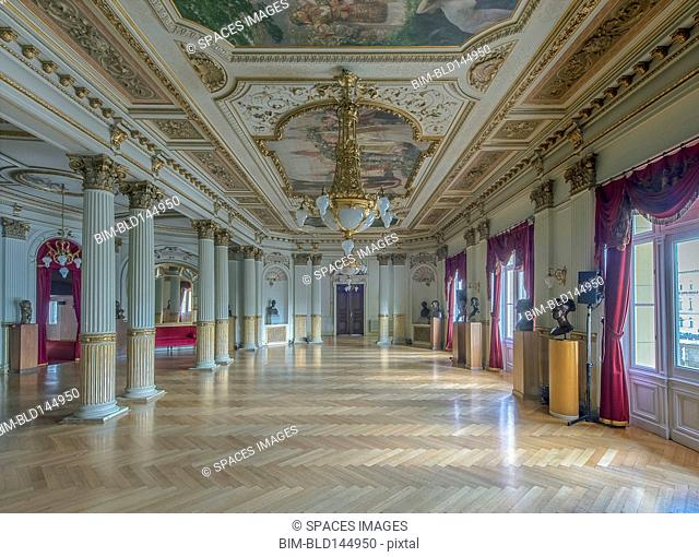 Ornate decor in Croatian National Theater, Zagreb, Zagreb, Croatia