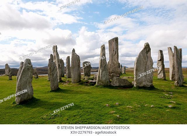 Europe, UK, Scotland, Outer Hebrides, Isle of Lewis - Callanish stone circle