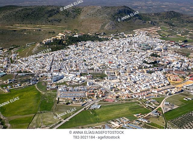 aerial view Steppe, Seville Andalusia, Spain Europe