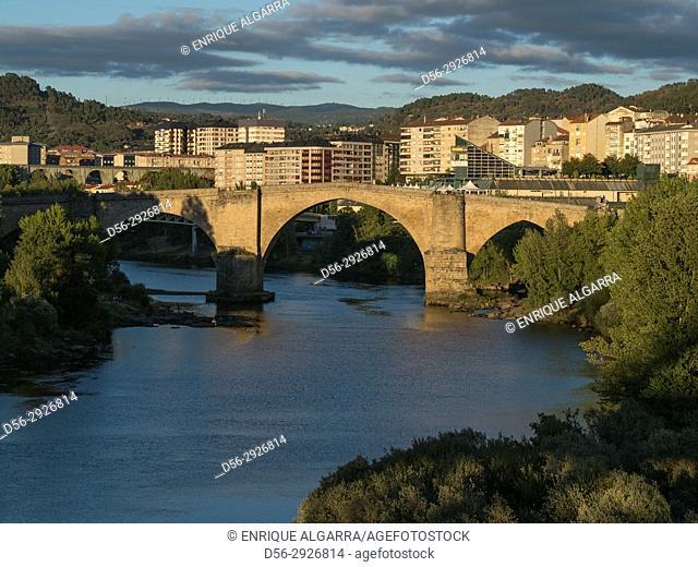 Roman bridge, Ourense, Galicia, Spain