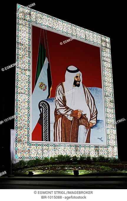 Portrait of Sheikh Zayed bin Sultan Al Nahyan, Emirate of Abu Dhabi, United Arab Emirates, Arabia, Near East