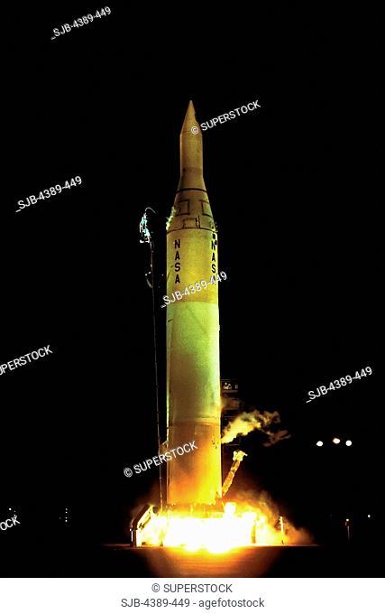 Liftoff of a Juno II Rocket