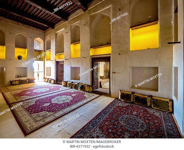 rugs in Jabrin Castle, Jabreen, Bahlat, Ad Dakhiliyah, Oman