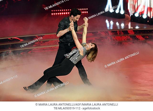 Marzia Roncacci during the performance at the tv show Ballando con le stelle (Dancing with the stars) Rome, ITALY-04-05-2019