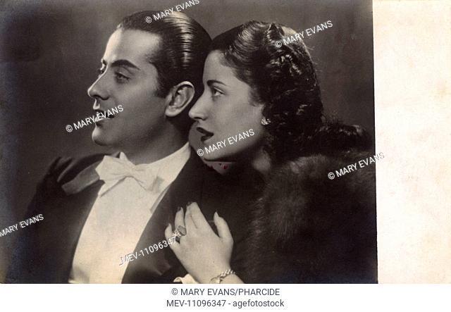 Farid al-Atrash (1910-1974) and Asmahan (Amal al-Atrash, 1912-1944), brother and sister, Syrian-Egyptian actors and musicians