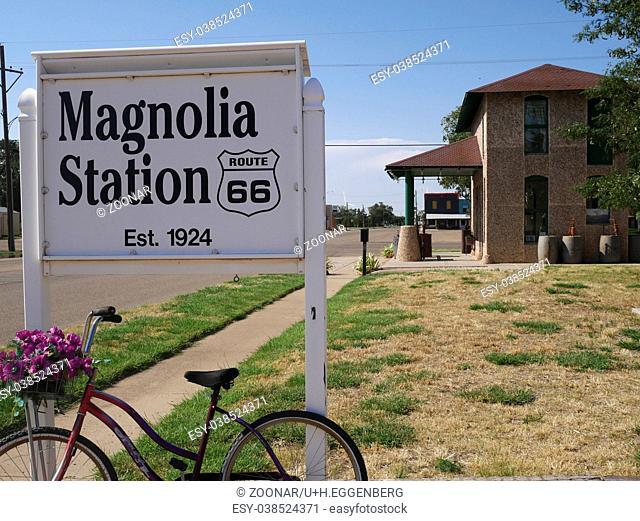 Magnolia Gas Station,Vega,Texas