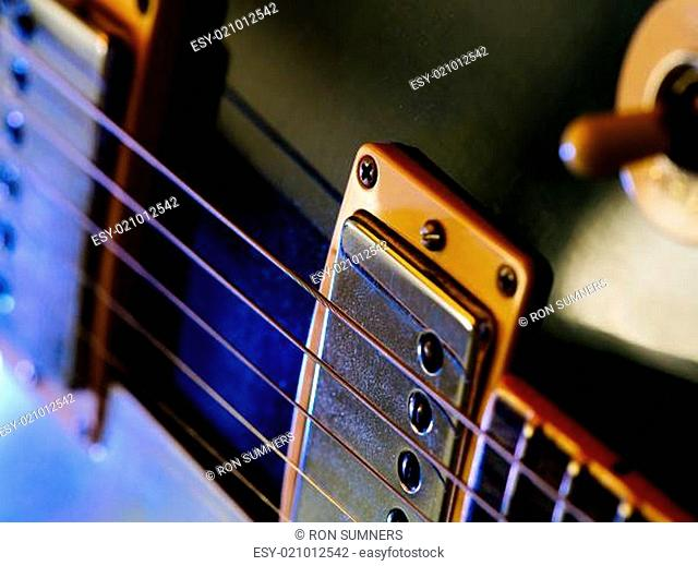Electric guitar strings and pickups