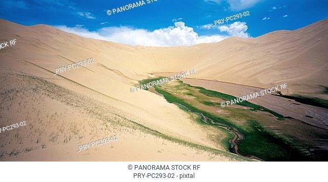 The Sand Fountain in Mt Altun,Xinjiang