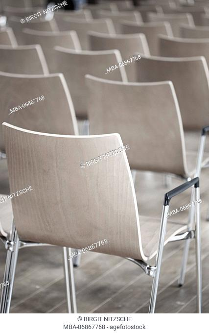 Row of chairs in a seminar room
