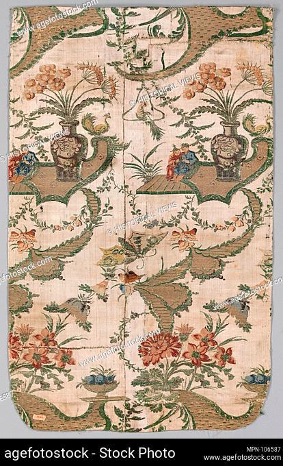 Piece. Date: 1750-60; Culture: Dutch; Medium: Silk and metal thread; Dimensions: L. 28 1/4 x W. 18 1/4 inches (71.8 x 46