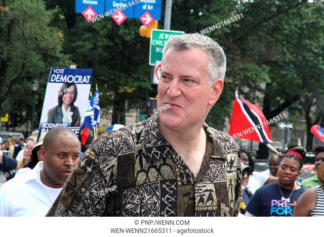Scenes from the 2014 West Indies Day Parade Featuring: Mayor,Bill De Blasio Where: Brooklyn, New York, United States When: 02 Sep 2014 Credit: PNP/WENN