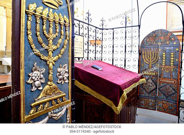 Interior of the jewish synagogue Remu'h, Kazimierz, Krakow, Poland
