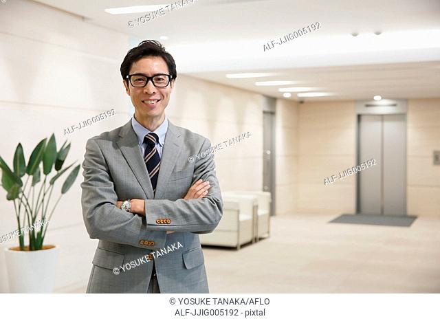 Japanese businessman in a modern office