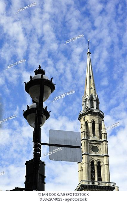 steeple of Saint Jacques church, Montreal, Quebec, Canada