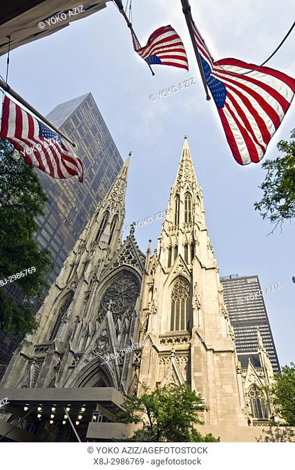 Saint Patrick's Cathedral on 5th avenue, Manhattan (New York, United States of America)