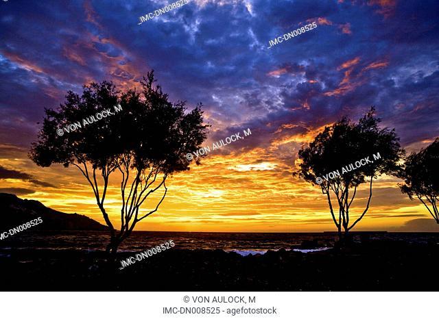 Greece, Dodecanese, Patmos, Skala, sunset