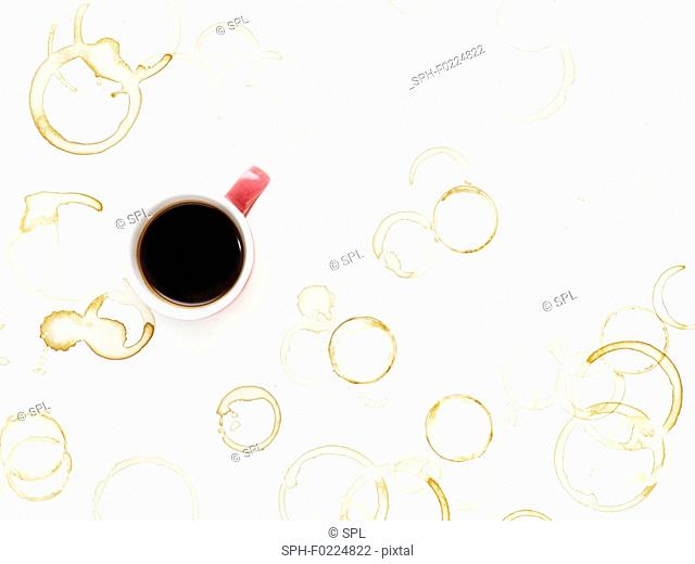 Coffee cup and stains