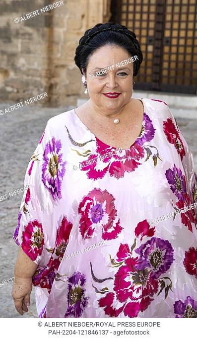 Grand Duchess Maria Vladimirovna of Russia.arrive at the Esglesias de Montes-Son in Pollensa, on June 29, 2019, the wedding of Joachim Albrecht Prince of...