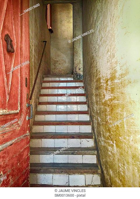 Stairs. Caldes d'Estrac, Maresme, Barcelona province, Catalonia, Spain
