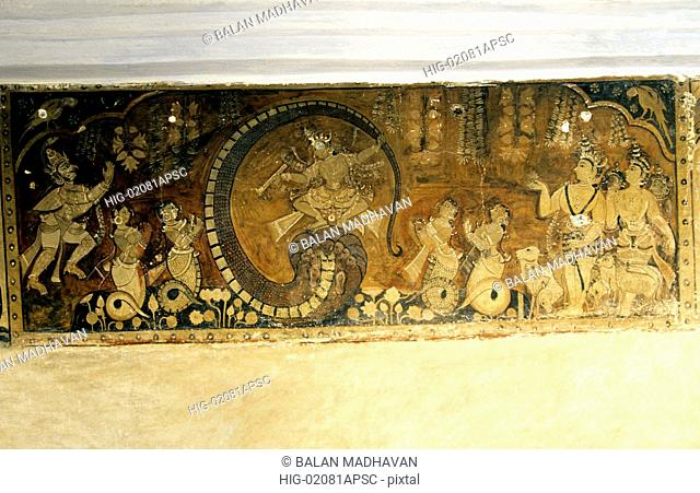 MURAL OF KALIA MARDHANAM IN SRI KURMA TEMPLE, SRIKAKULAM, ANDHRA PRADESH, INDIA
