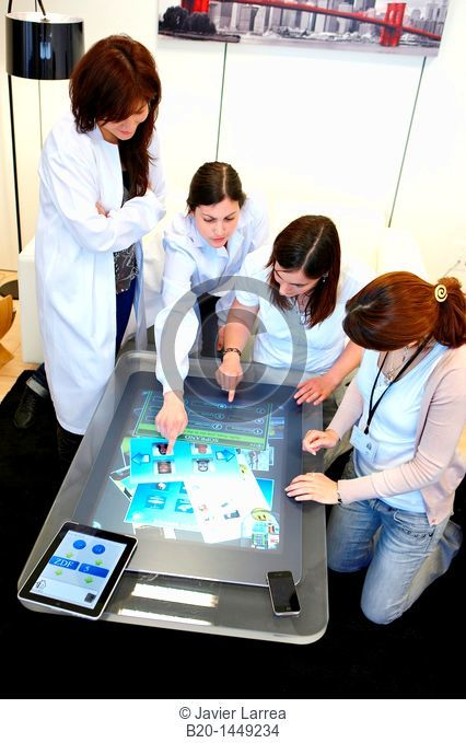Multi-touch interaction, Health and Biomedical applications, Vicomtech-IK4 Visual Interaction and Communication Technologies Centre