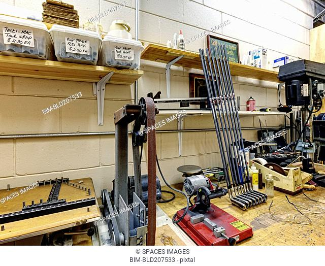 Workshop for Manufacturing Golf Clubs